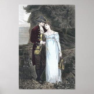 Vintage Couple in Love Art Print