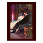 Vintage Couple in Sitting Room Postcards