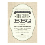 Vintage Couples BBQ Baby Shower Invitations Personalized Announcement