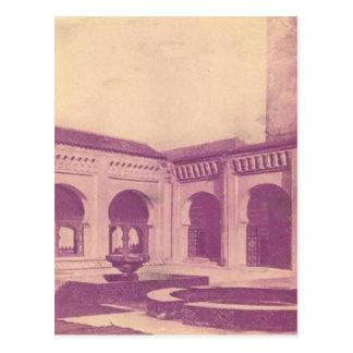 Vintage Courtyard, Algeria 1910 Postcard