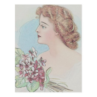 Vintage Covergirl Postcard