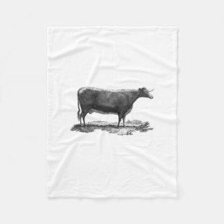 Vintage cow etching fleece