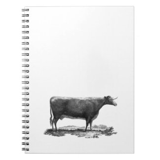 Vintage cow etching journal