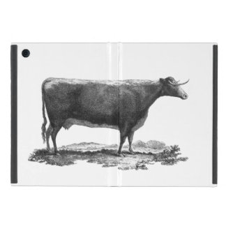 Vintage cow etching mini tablet case cases for iPad mini