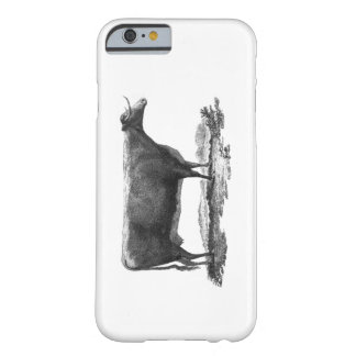 Vintage cow etching phone case