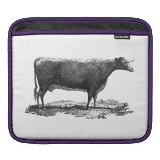 Vintage cow etching sleeve