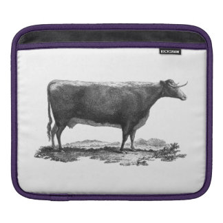 Vintage cow etching sleeve sleeve for iPads