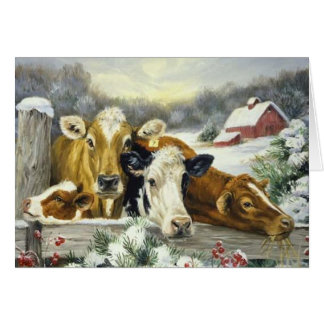 Vintage Cow Image Cards