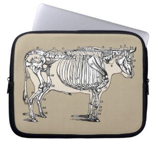 Vintage Cow Skeleton Laptop Sleeve