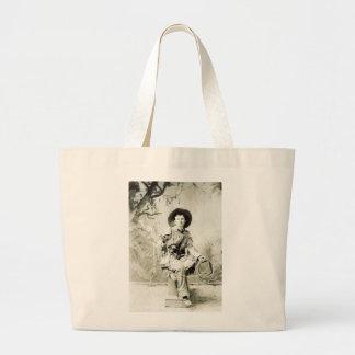 Vintage Cowboy circa 1900 Canvas Bag