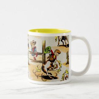 Vintage Cowboy Cowgirl Mug