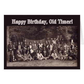 Vintage Cowboy Happy Birthday Card