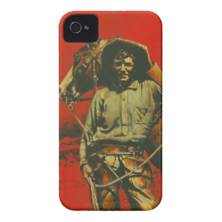 Vintage Cowboy iPhone 4 Case-mate Barely There iPhone 4 Covers