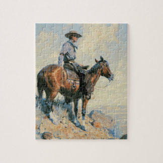 Vintage Cowboy, Sentinel of the Plains By Dunton Jigsaw Puzzle
