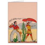 Vintage Cowboy Valentine Card