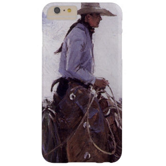 Vintage Cowboy with His Herd of Cattle by Koerner Barely There iPhone 6 Plus Case