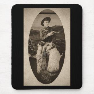 Vintage Cowboy with Lasso circa 1900 Mouse Pad