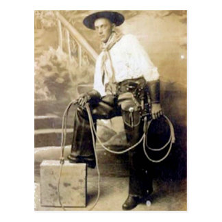 Vintage Cowboys 20 Postcard