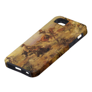 Vintage Cowboys, Jerked Down by CM Russell iPhone 5 Covers