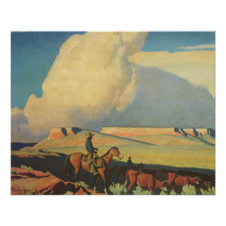 Vintage Cowboys, Open Range by Maynard Dixon
