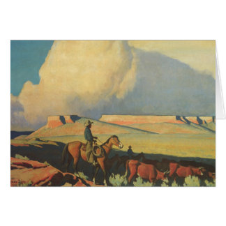 Vintage Cowboys, Open Range by Maynard Dixon Card