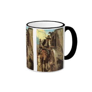 Vintage Cowboys, The Admirable Outlaw by NC Wyeth Ringer Mug