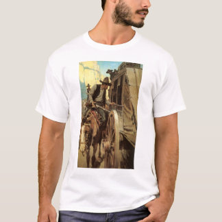 Vintage Cowboys, The Admirable Outlaw by NC Wyeth T-Shirt