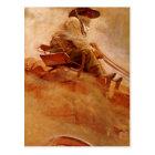 Vintage Cowboys, The Ore Wagon by NC Wyeth Postcard