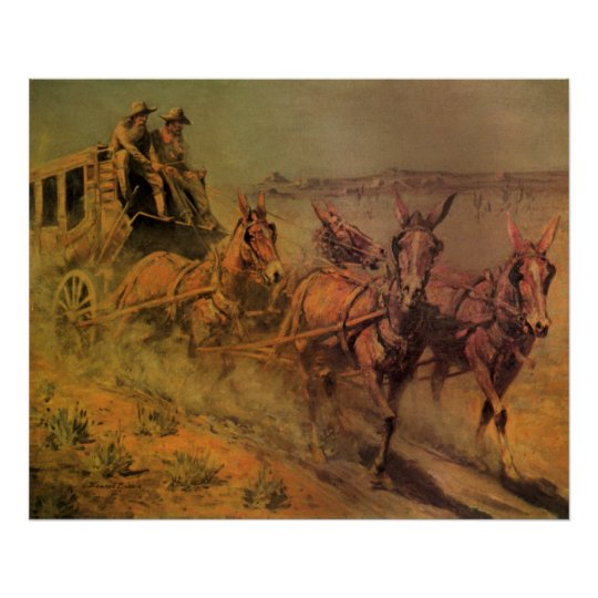 Vintage Cowboys, The Stage Coach by John Borein