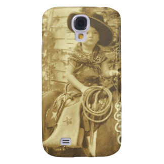 VINTAGE COWGIRL 3G PHONE CASE GALAXY S4 CASE