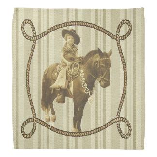 Vintage Cowgirl Bandana
