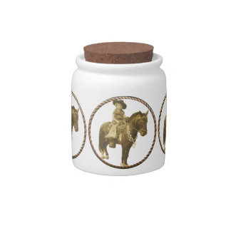 Vintage Cowgirl Candy Jar