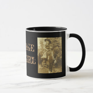 VINTAGE COWGIRL COFFEE CUP OR MUG