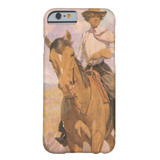 Vintage Cowgirl Cowboy, Woman on Horse by Dunton Barely There iPhone 6 Case