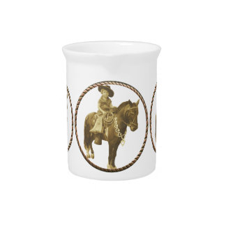 Vintage Cowgirl Drink Pitchers