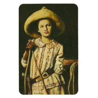 Vintage Cowgirl Flexible Magnet