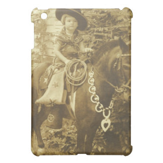 VINTAGE COWGIRL I PAD CASE CASE FOR THE iPad MINI