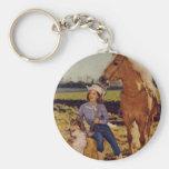 Vintage Cowgirl Key Chain