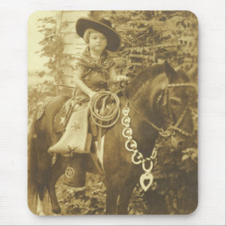 VINTAGE COWGIRL MOUSEPAD MOUSEPADS