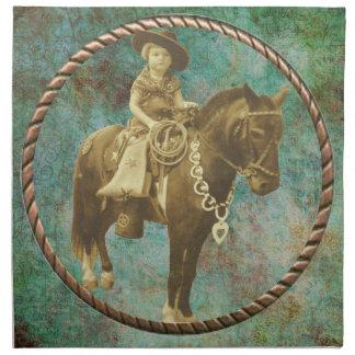 Vintage Cowgirl Napkin