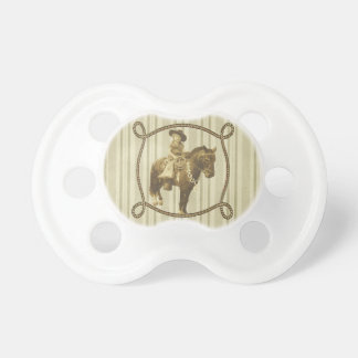 Vintage Cowgirl On Horse BooginHead Pacifier