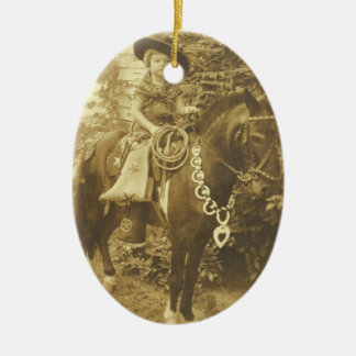 VINTAGE COWGIRL ORNAMENT