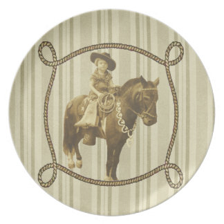 Vintage Cowgirl Plate
