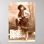 Vintage Cowgirl Print