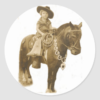 VINTAGE COWGIRL STICKER