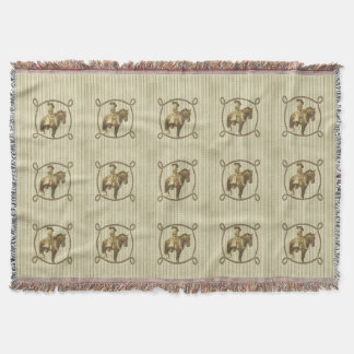 Vintage Cowgirl Throw