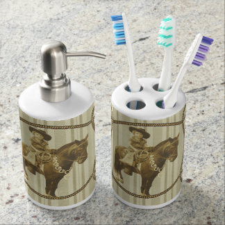 Vintage Cowgirl Toothbrush Holder