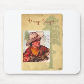 Vintage Cowgirl Western Antique Hat Mouse Mat