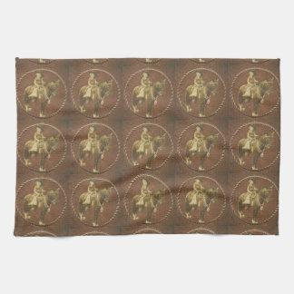 Vintage Cowgirl Western Kitchen Dish Towel