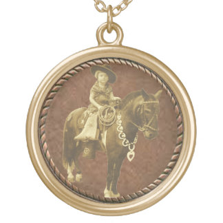 Vintage Cowgirl Western Necklace